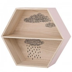 BLOOMINGVILLE - Hexagonal Display Box with Cloud - Nude/Natural