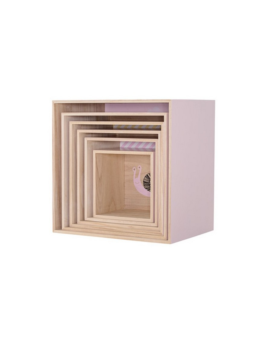 shop online bloomingville mini square display boxes nude. Black Bedroom Furniture Sets. Home Design Ideas