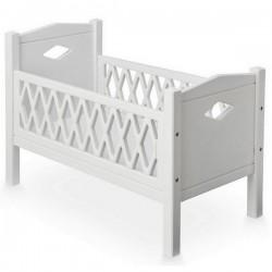 Cam cam harlequin doll's bed white