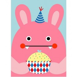 NOODOLL - Affiche RiceRabbit Cupcake