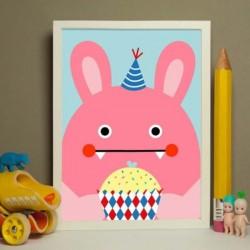 NOODOLL Ricebit cupcake print