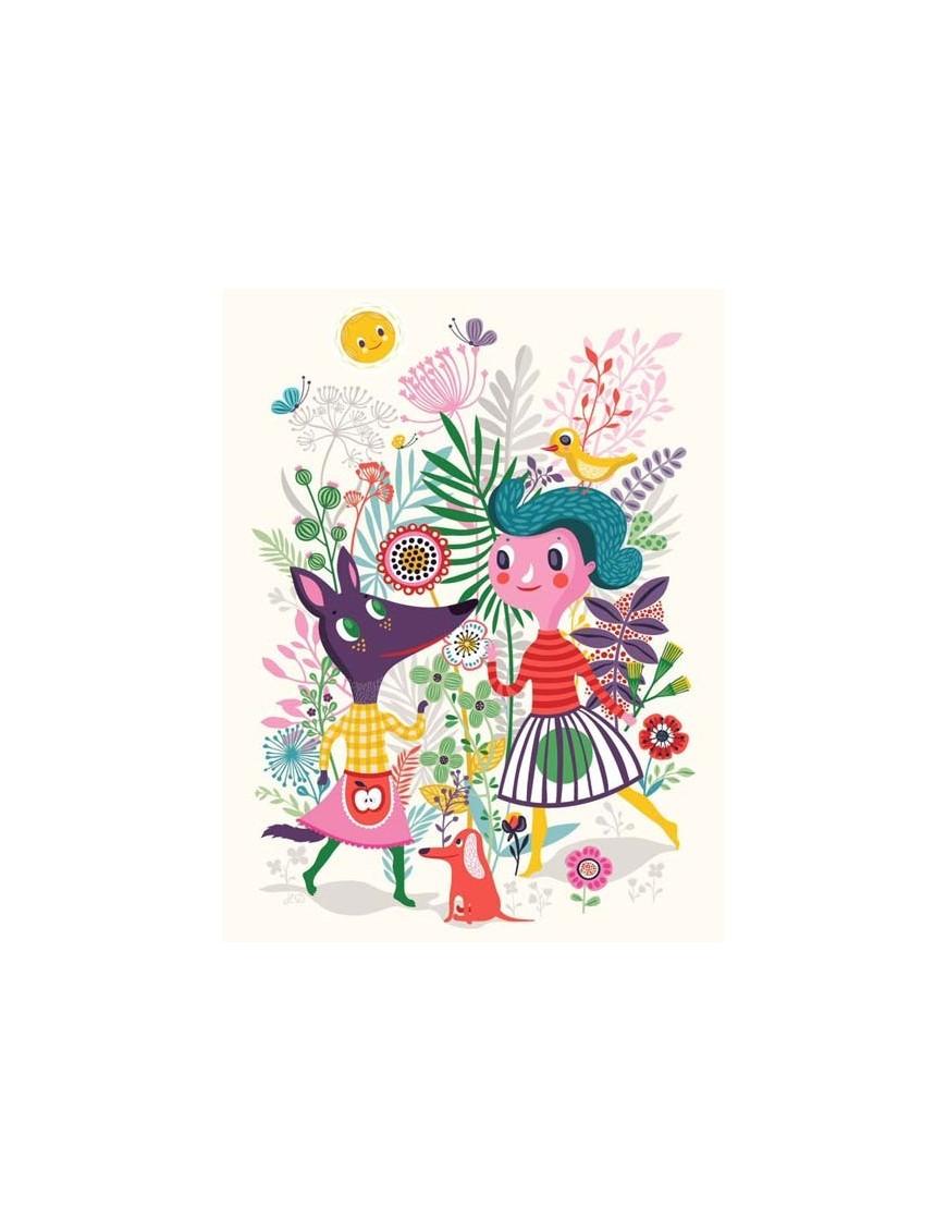 """Affiche Helen Dardik """"Sweet fox"""" (50x70cm)"""