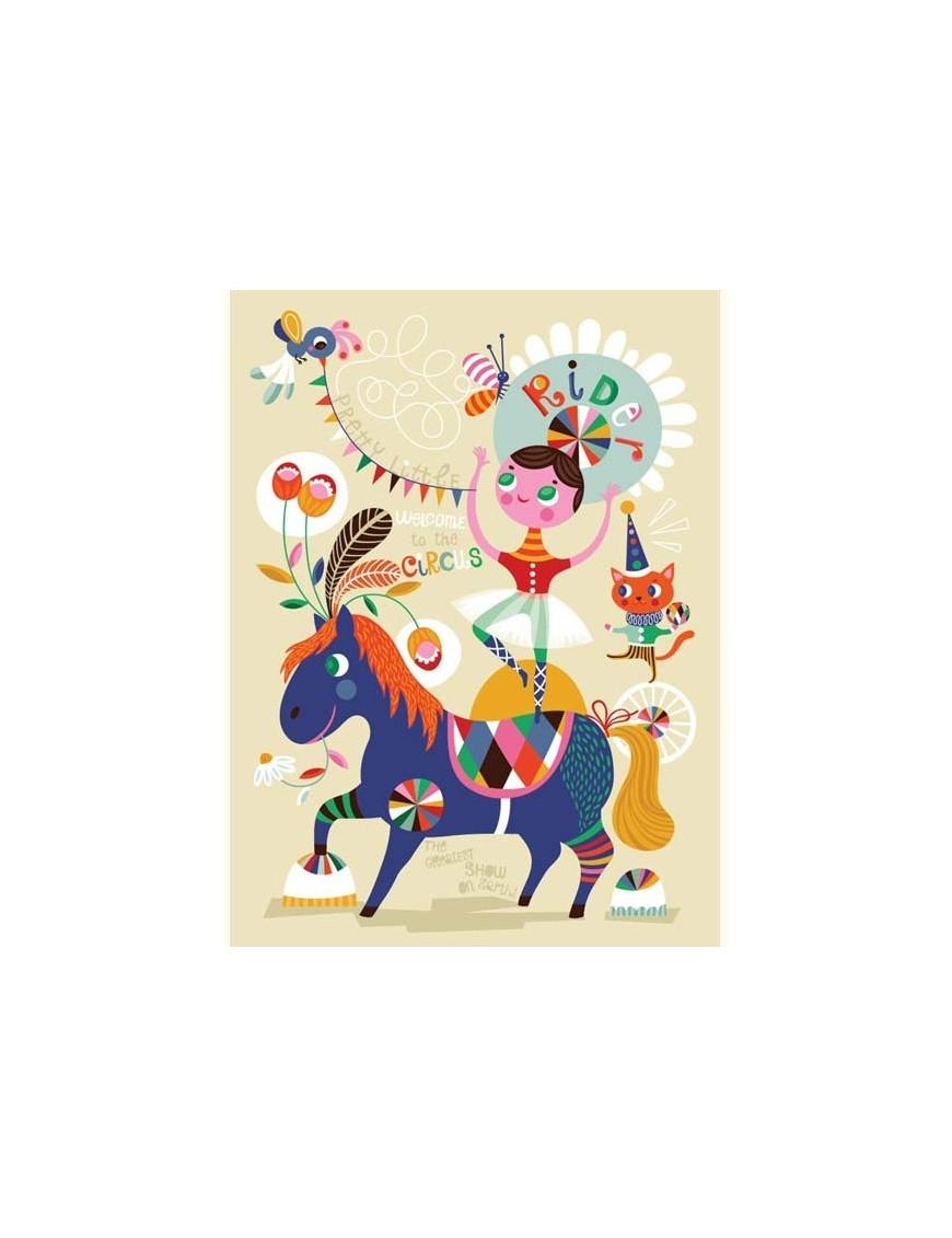 """Helen Dardik - Affiche """"Pretty Little Rider"""" (50x70cm)"""