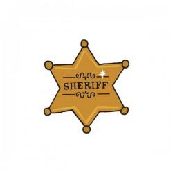 tattly tatouage éphémaire enfant étoile de sheriff (x 2 pcs)