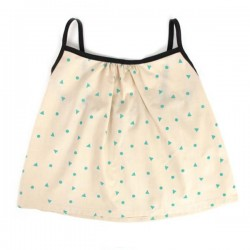 nobodinoz miami baby girl blouse - green triangles