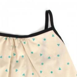 NOBODINOZ | blouse bébé été fille: triangles verts