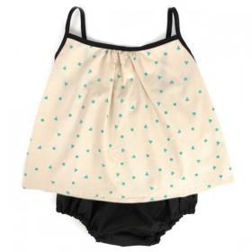 NOBODINOZ   blouse bébé été fille: triangles verts