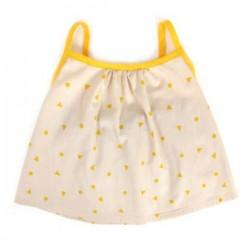 NOBODINOZ | blouse bébé été fille: triangles jaunes