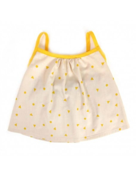 Nobodinoz - Miami Baby Girl Blouse - yellow triangle