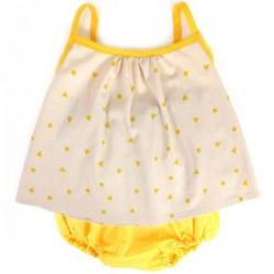 Nobodinoz - Miami Baby Girl Blouse - yellow triangle