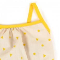 (18 mois) combinaison bébé été: triangles jaunes   NOBODINOZ