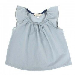 Nobodinoz - Miami Baby Girl Blouse - blue dots