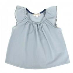 NOBODINOZ | blouse bébé été fille: bleue