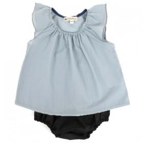 NOBODINOZ   blouse bébé été fille: bleue