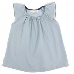 (6 months) baby girl dress: light blue | NOBODINOZ