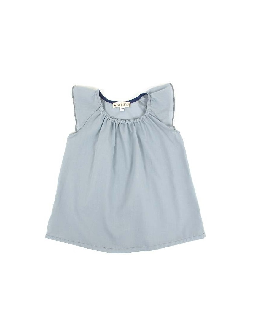 (6 months) baby girl dress: light blue | NOBODINOZ
