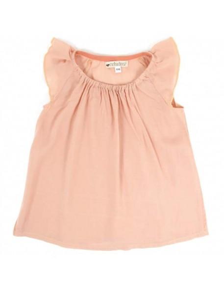 (18 mois) blouse bébé été fille: rose | NOBODINOZ