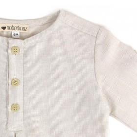 NOBODINOZ   summer baby boy shirt: light blue   NOBODINOZ