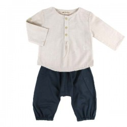 NOBODINOZ | summer baby boy shirt: light blue | NOBODINOZ