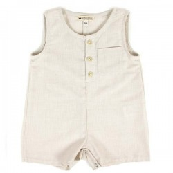Nobodinoz | summer baby short jumpsuit: gingham check