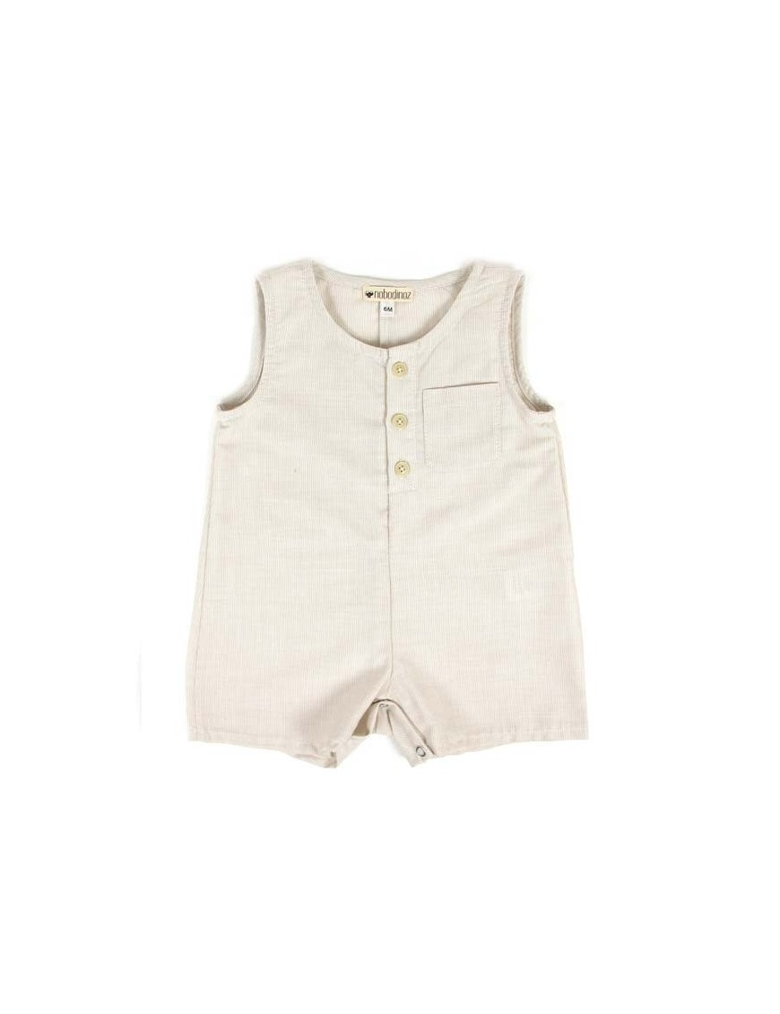 Nobodinoz | summer baby short jumpsuit: gingham check