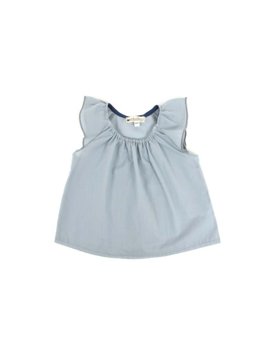 Nobodinoz - Cuba Girl Blouse - grey blue