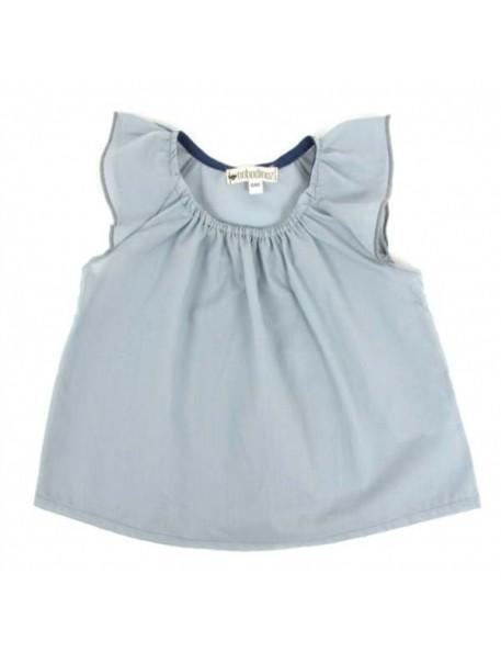 Nobodinoz Blouse Fille Havana - bleu gris
