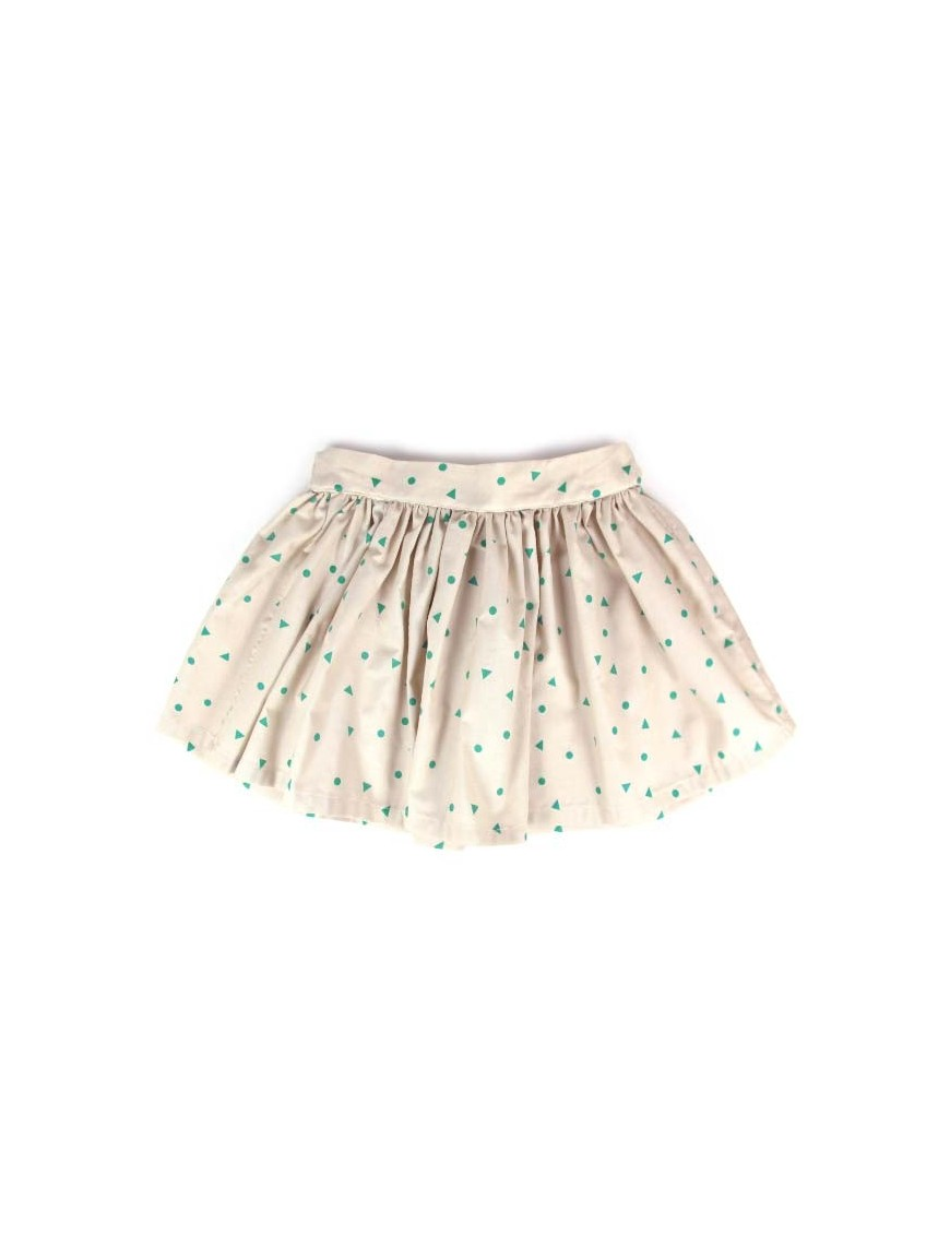 4A - Nobodinoz Jupe Fille Polinesia - triangles verts