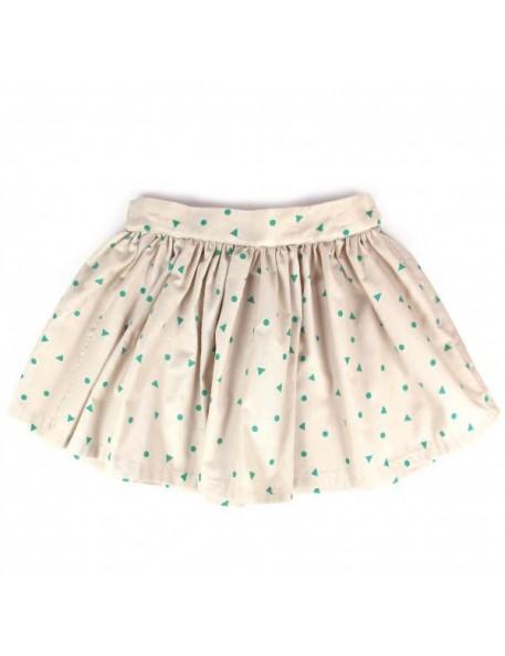 4A - Nobodinoz Polinesia Girl Skirt - green triangle