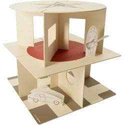 modern cardboard dollhouse