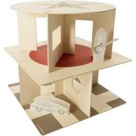 maison de poupée en carton écologique