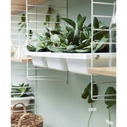 STRING Furniture Bowl Shelf - White
