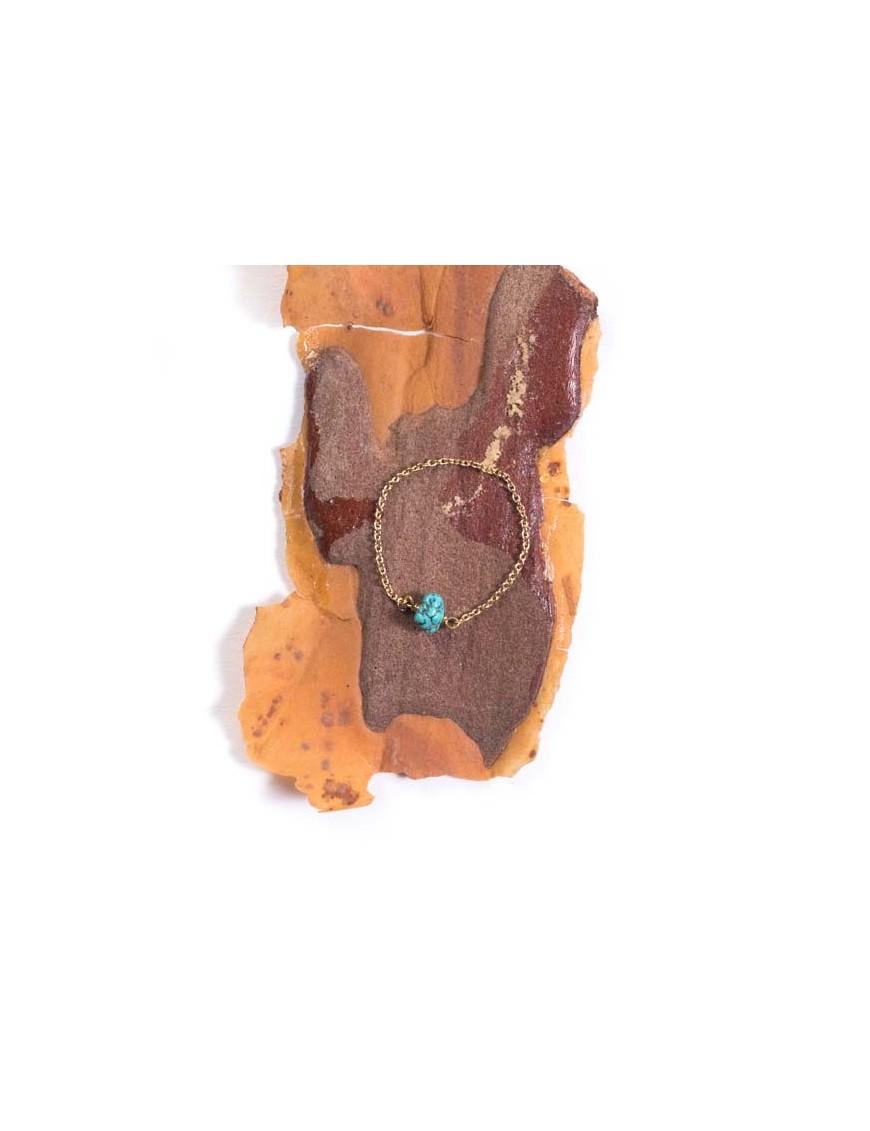 Tassia Canellis - Bague Arizona - Pierre Turquoise Brut