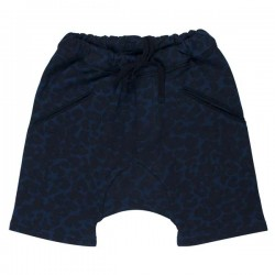 soft gallery edgar blue leopard shorts