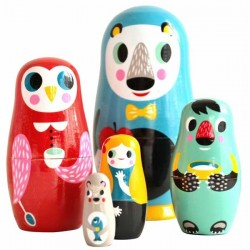 matryoshka poupées russes animal family helen dardik