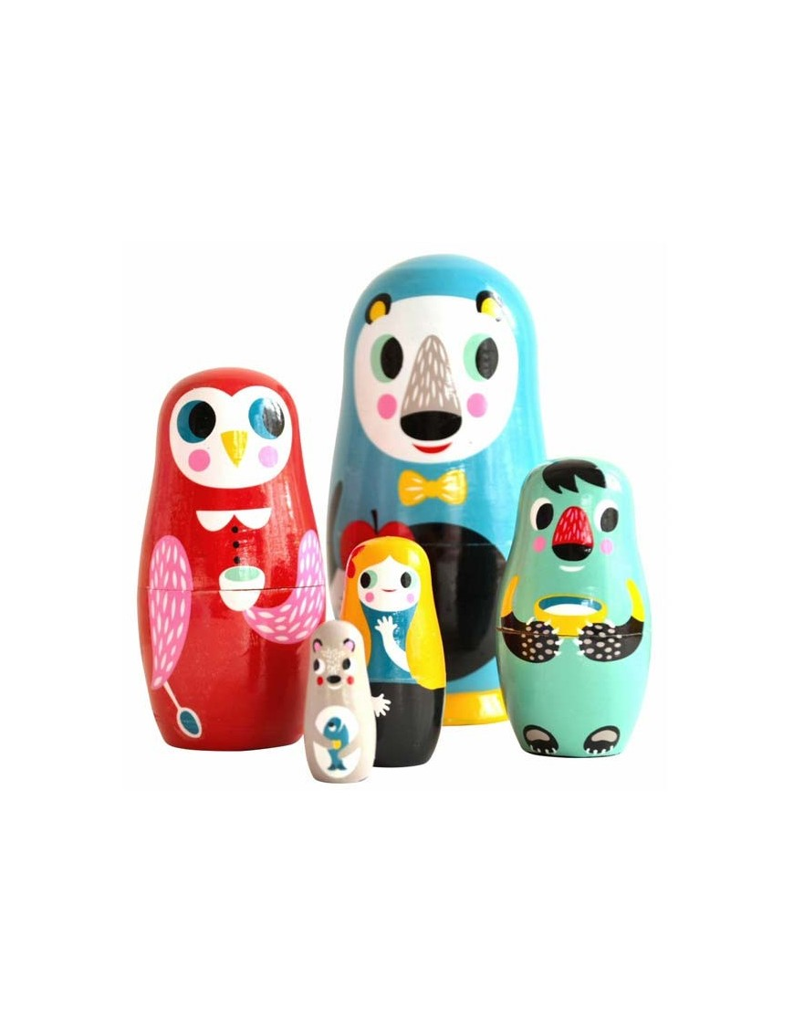 poupées russes matrioshka animal family helen dardik