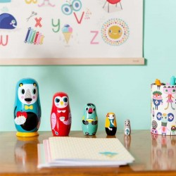 poupées russes matrioshka animal family helen dardik
