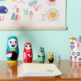Helen Dardik nesting dolls: animals | Petit Monkey