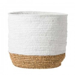 bloomingville raffia basket - white and natural