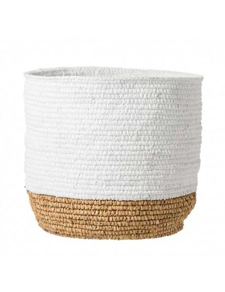 bloomingville raffia basket - white and natural