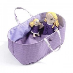 Doll Basket With Pillow&Cover - purple