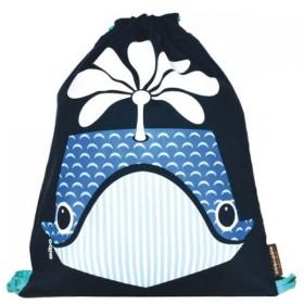 Coq en Pâte - Sac à dos Marine Imprimé Baleine