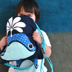 Coq En Pâte - Kids Rucksack with Whale Print