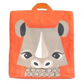 Coq En Pâte - Green Kids Backpack with Rhino Print