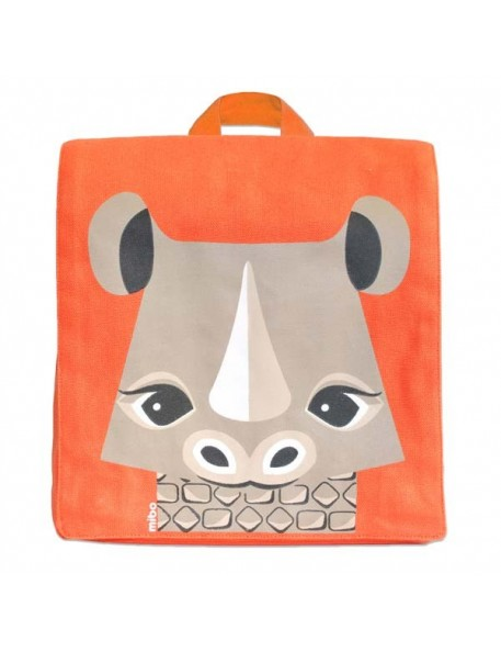 Coq en Pâte - sac à dos maternelle rhinocéros