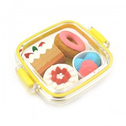 IWAKO | lunchbox with 4 cakes eraser