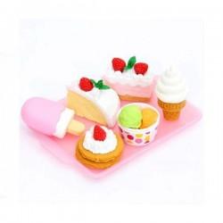 IWAKO   lunchbox with 4 cakes eraser