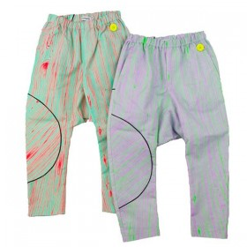 FRANKY GROW Wood Pants neon orange & mint