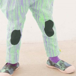 FRANKY GROW Wood Pants purple & neon green