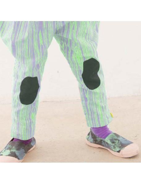FRANKY GROW Wood Pants purple & neon green